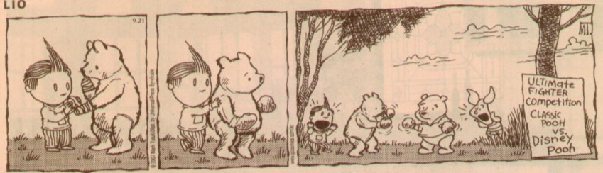 Pooh vs. the Anti-Pooh - Lio comic strip, approx. Dec. 07