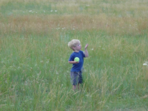 Graham Nielsen in a Montana prairie. (July, 2005)