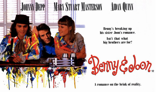 "Movie poster / photo for ""Benny & Joon"", a 1993 film about a schizophrenic woman."