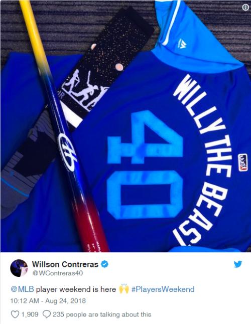 Willson the Beast tweet -re nicknames pic8-26-18