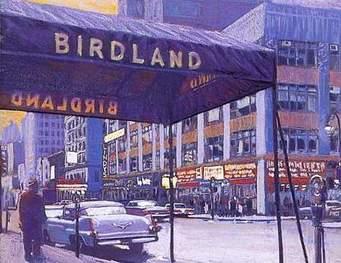 Birdland canopy w T-bird car