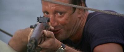Scheider shoots shark Jaws-Garand-5 (Arbuckle & Trump)